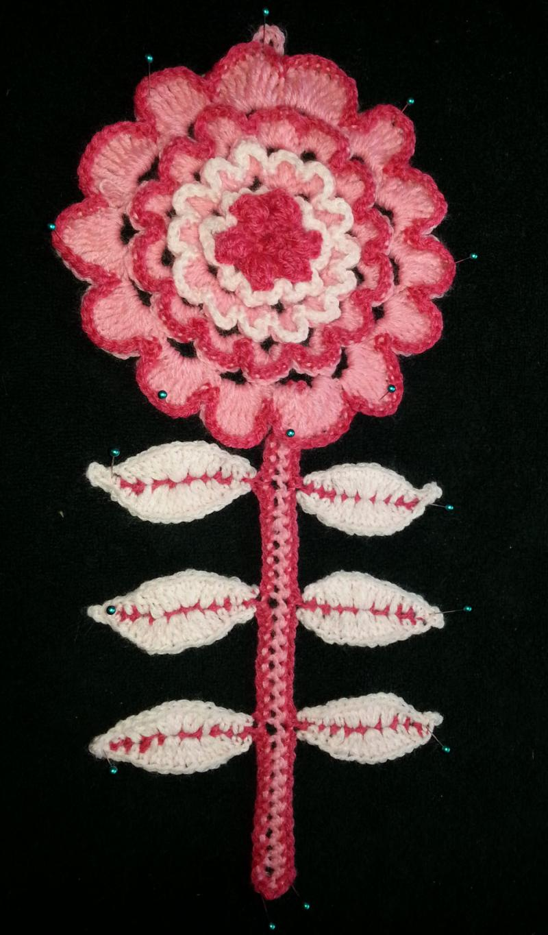 Adding to my crochet flower garden four pretty flowers complete i used knit picks sport for this flower mightylinksfo